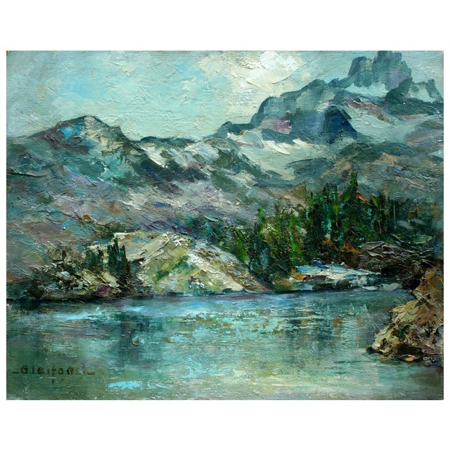 Helen Gleiforst Vintage Peak Yosemite Painting - Image 1 of 3