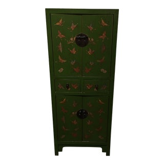 Green Painted Tibetan Chest
