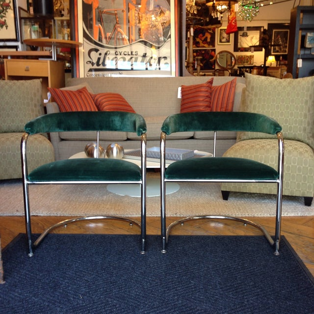 Image of Vintage Anton Lorenz Thonet Chairs - Pair