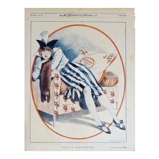 """Maurice Pépin 1919 """"La Garconniere"""" Le Sourire Print"""