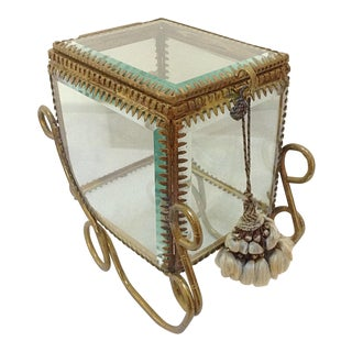 Antique Glass Carriage Display Case
