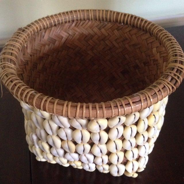 Image of Vintage Woven Shell Basket