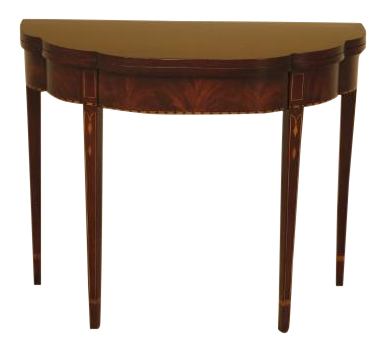 Henkel Harris Federal Inlaid Mahogany Flip Top Table Part 92
