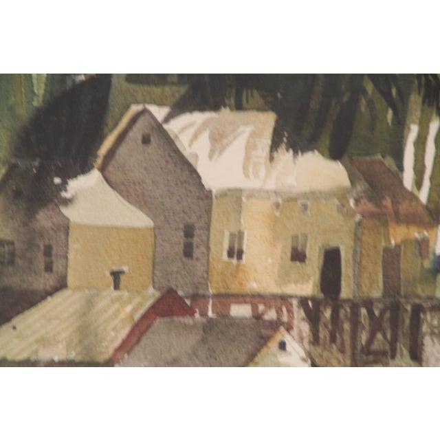 Original Bruce Spicer Vintage Coastal Watercolor Painting - Image 5 of 9