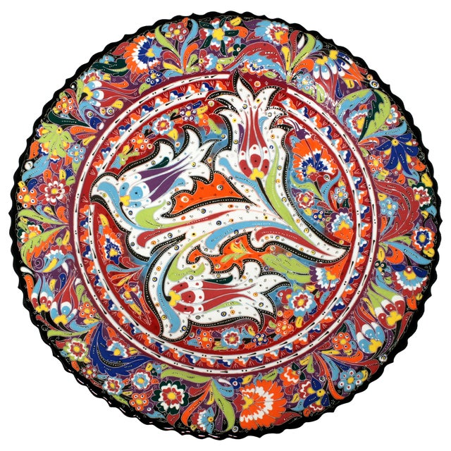 Multicolor Hand Made Turkish Plate - Image 1 of 7