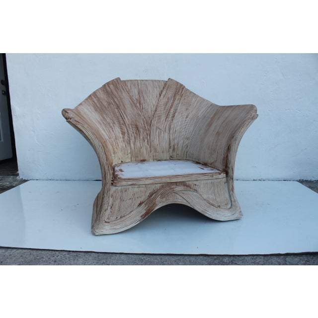 Image of Gabriella Crespi Style Pencil Bamboo Club Chair