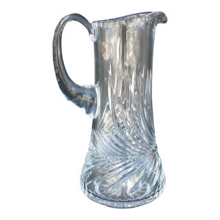 Swirl Pattern Crystal Pitcher