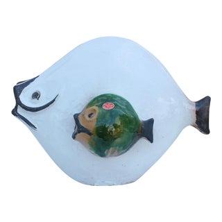 Gli Etruschi Italian Art Pottery Fish Sculpture