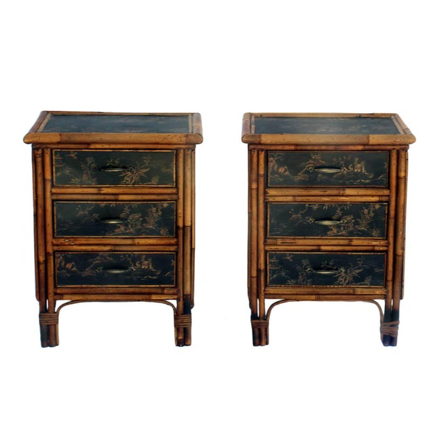 Image of Bamboo Nightstands - Pair