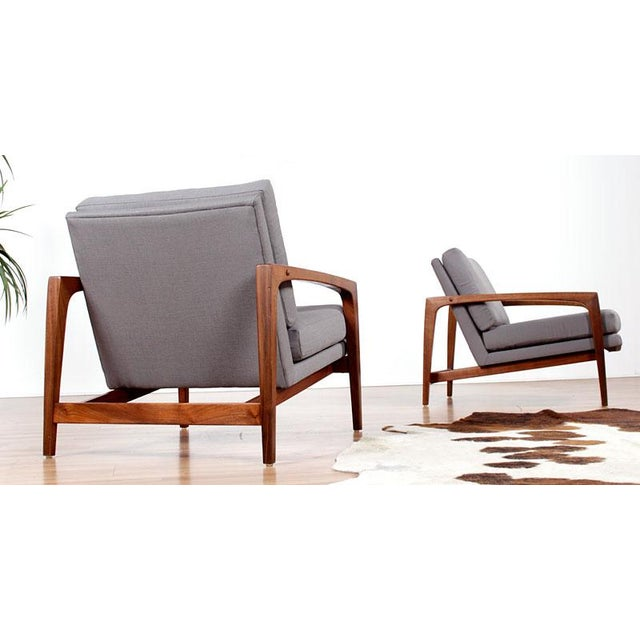 Image of Restored Mid-Century Modern Arm Chairs - Pair