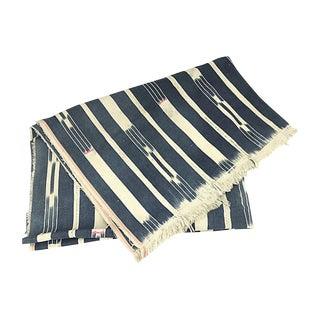 African Baule Shibori Mud Cloth Throw