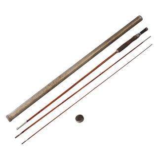 Vintage Sarreid LTD Fly Fishing Rod in Metal Tube