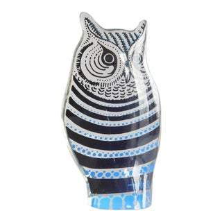 Vintage Abraham Palatnik Op Art Lucite Owl