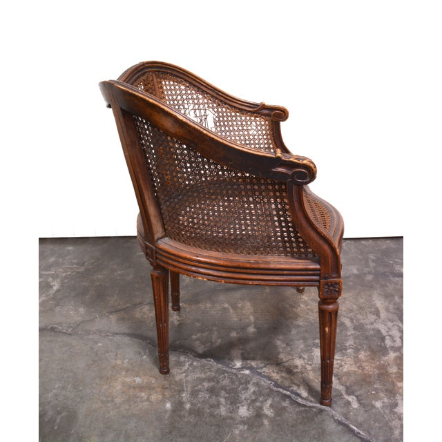 Vintage French Louis XV Caned Chair - Image 5 of 6