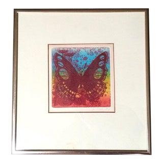 1975 Signed Butterfly Print