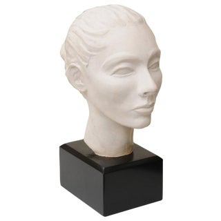 Classical italian Plaster of Paris Head Sculpture