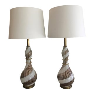 1940's Murano Lamps - A Pair