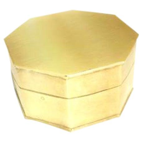 Vintage Brass Octagonal Box - Image 1 of 3