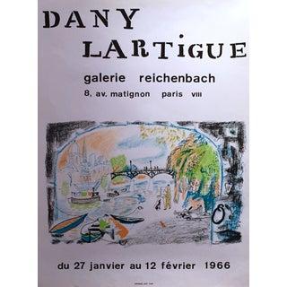 1966 Vintage Dany Lartigue Exhibition Poster