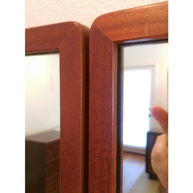 Narrow Danish Modern Teak Mirrors, a Pair - Image 5 of 8