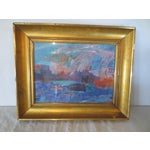 Image of Morris Shulman Vintage Abstract Landscape Painting