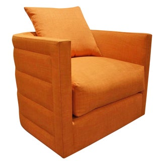 Nathan Anthony Orange Swivel Chair