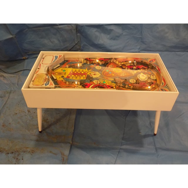 Image of Mid-Century Style Lighted Pinball Coffee Table