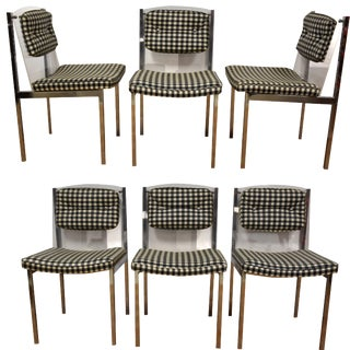 Chrome and Lucite Dining Chairs - Set of 6
