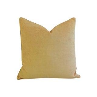 Rich Golden Velvet Feather/Down Pillow
