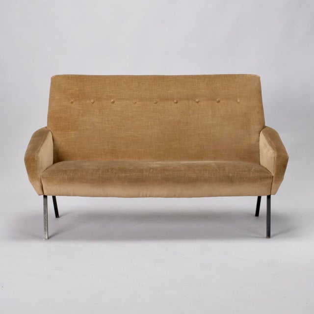 Mid-Century Italian Settee in the style of Marco Zanuso - Image 8 of 8