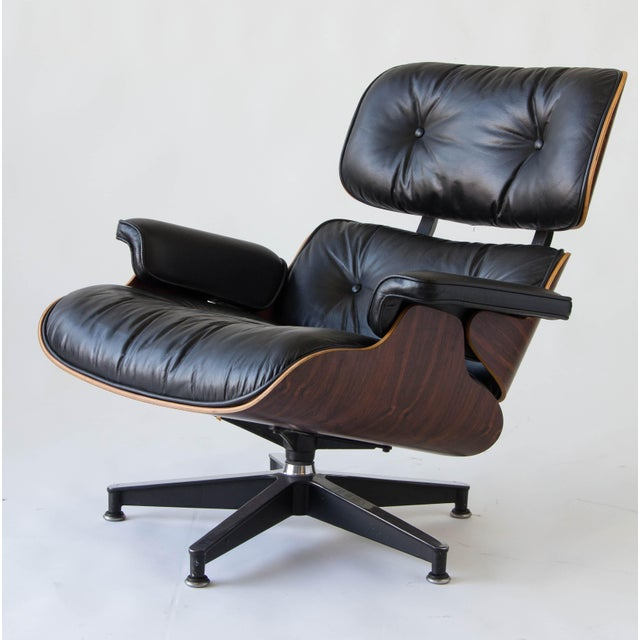 Image of Vintage Eames Lounge Chair With Ottoman