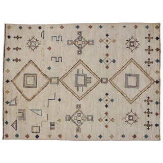 Contemporary Moroccan Style Tribal Rug, 9'2 x 12'4