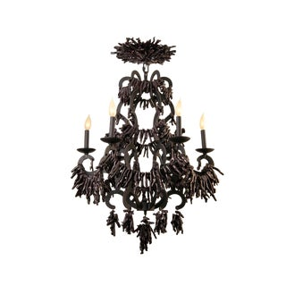 Black Wrought Iron Coral Chandelier