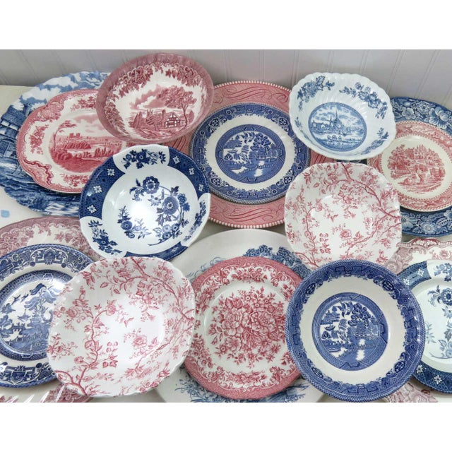 Mismatched Ironstone China Set, Service for 6 - Image 3 of 11