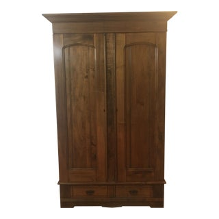 Contemporary Wood Poplar Armoire