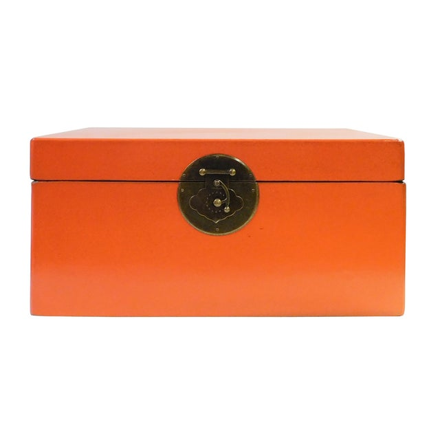Image of Orange Rectangular Container Box