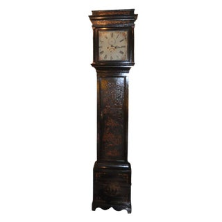 19th Century English Chinoiserie Case Clock