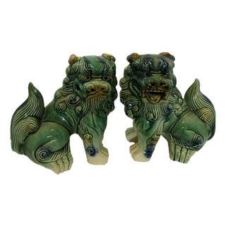 Medium Chinese Foo Dogs - A Pair
