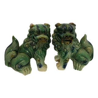 Medium Chinese Foo Dogs - A Pair