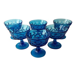 Noritake Perspective Blue Champagne Coupes - Set of 6