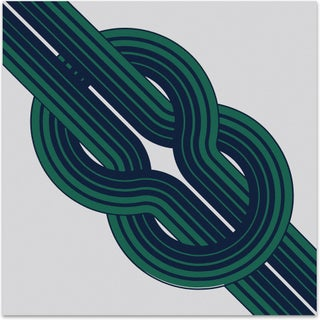 1970s Serigraph - Bold Green Knot
