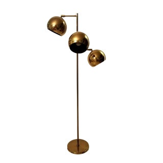Koch & Lowy Triple-Head Orb Floor Lamp