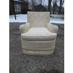 Image of Vintage Cream Club Chairs - A Pair