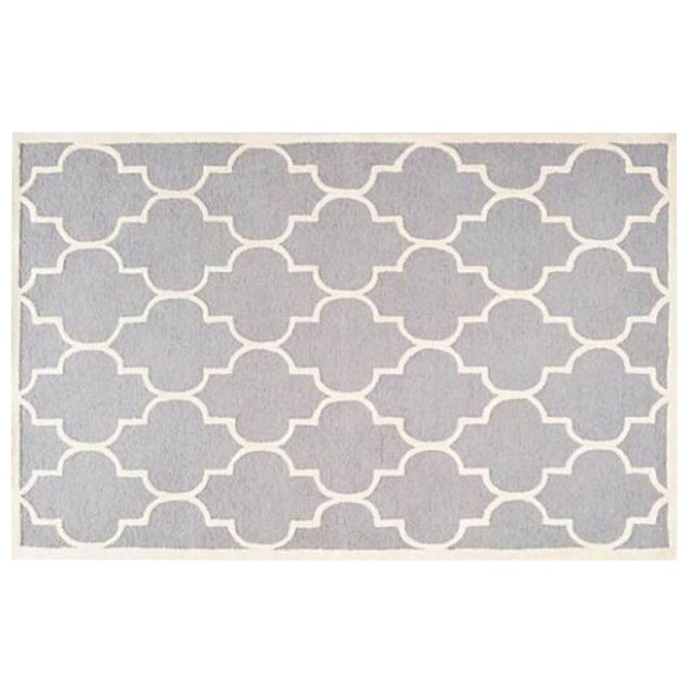 Carly Silver & Ivory Contemporary Rug - 6′ × 6′ - Image 1 of 3