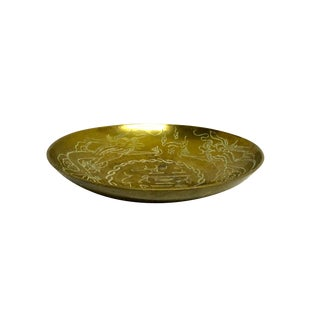 Engraved Asian Brass Bowl