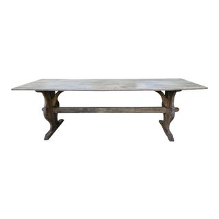 19th C. Carved Italian Trestle Dining Table