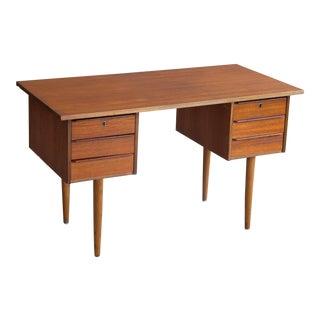 Danish Mid Century 1960's Small Teak Writing Desk