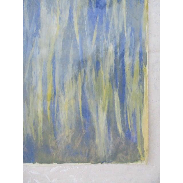 Alaina Blue Green Streak Painting - Image 7 of 10