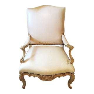 Diana 22k Gold Leaf Finish Side Chair
