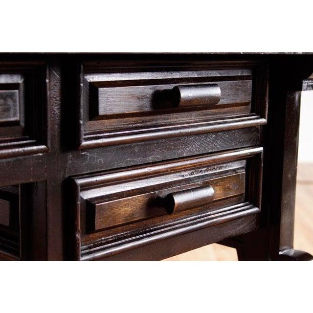 Vintage Spanish Revival Console Desk - Image 5 of 7